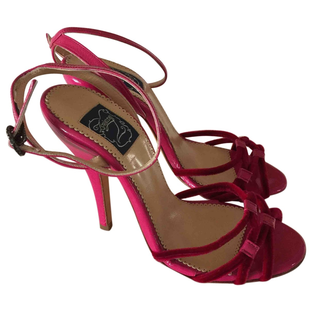 Non Signé / Unsigned \N Pink Leather Sandals for Women 36 EU