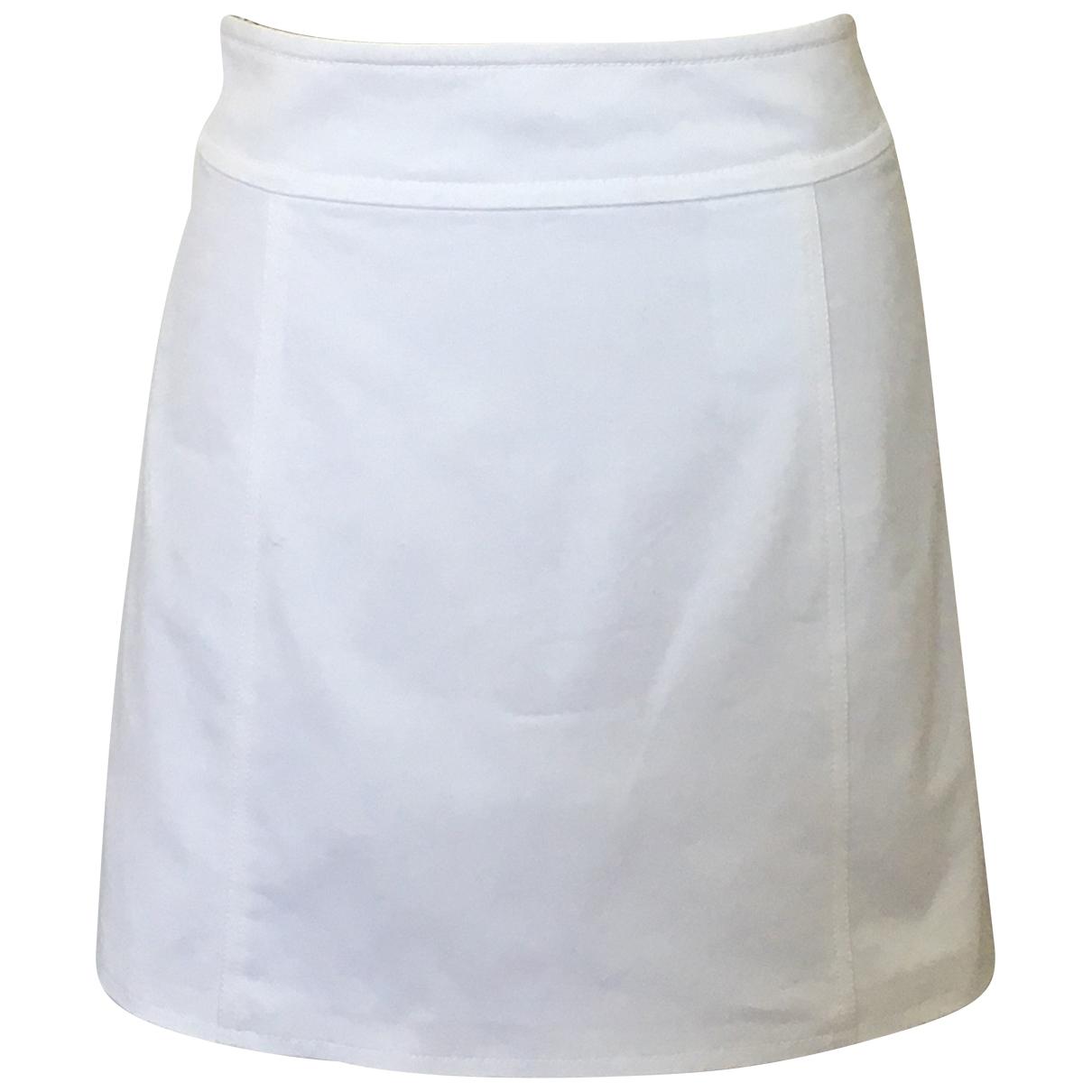 Prada - Jupe   pour femme en coton - elasthane - blanc