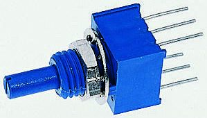 Bourns 2 Gang Rotary Conductive Plastic Potentiometer with an 3.18 mm Dia. Shaft - 100kΩ, ±20%, 0.25W Power Rating,