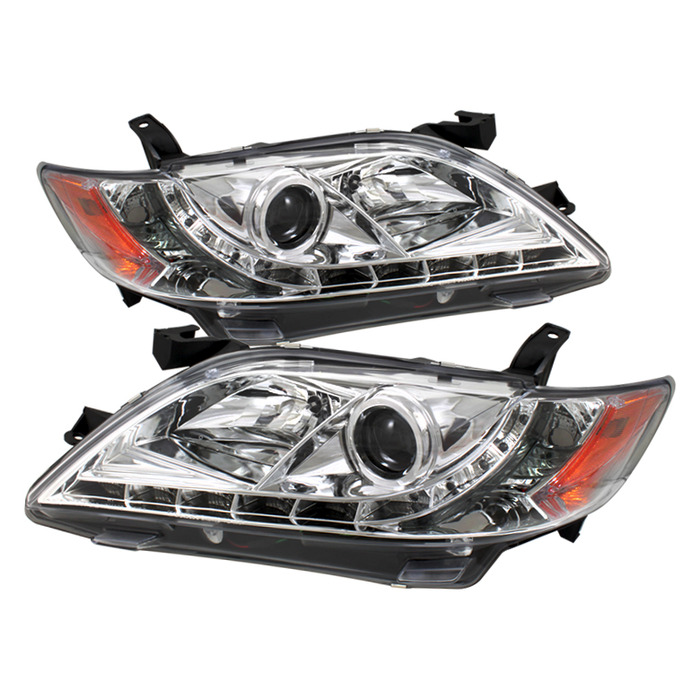 Spyder Auto PRO-YD-TCAM07-DRL-C Chrome DRL Projector Headlights with High H1 and Low H7 Lights Included Toyota Camry 07-09