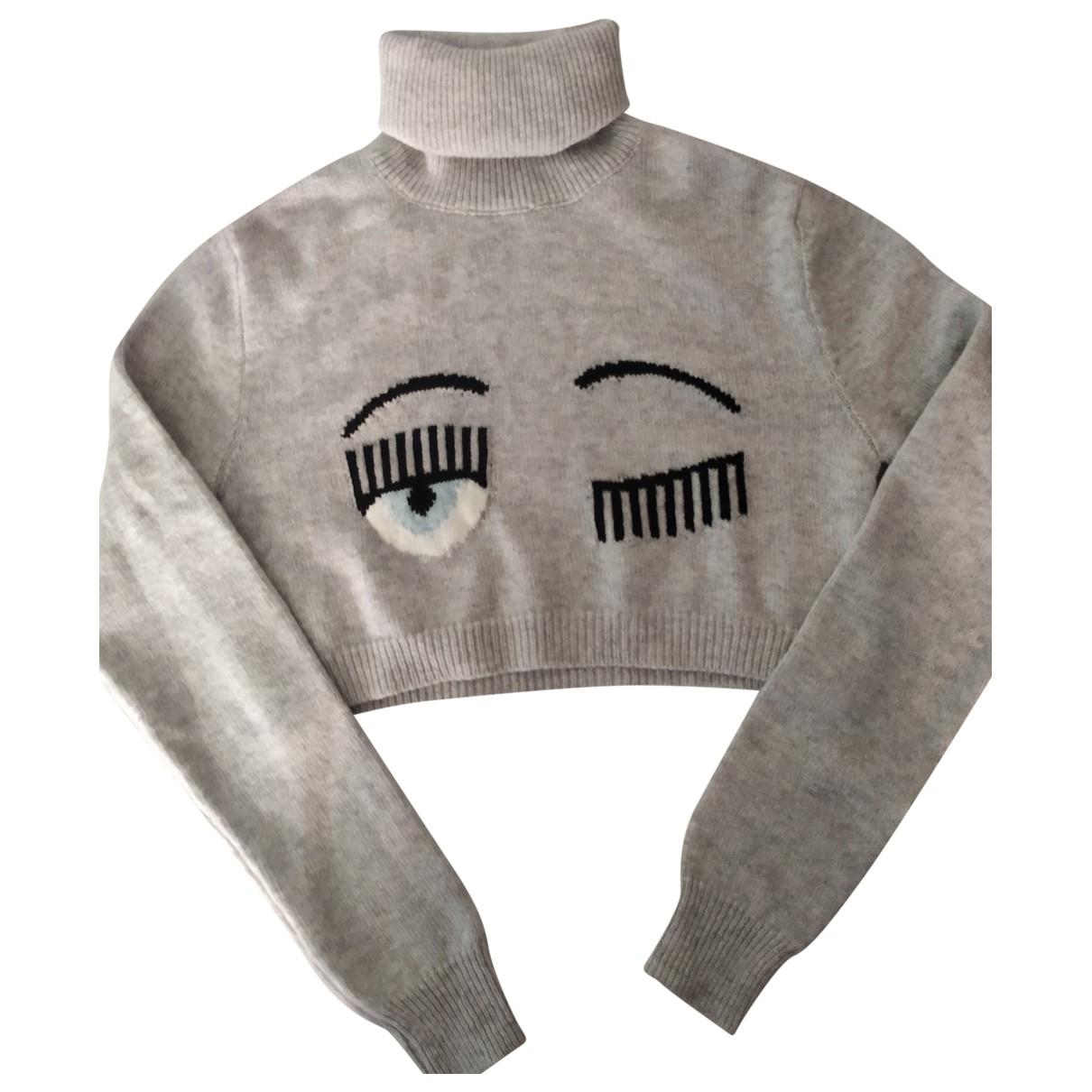 Chiara Ferragni - Pull   pour femme en laine - gris