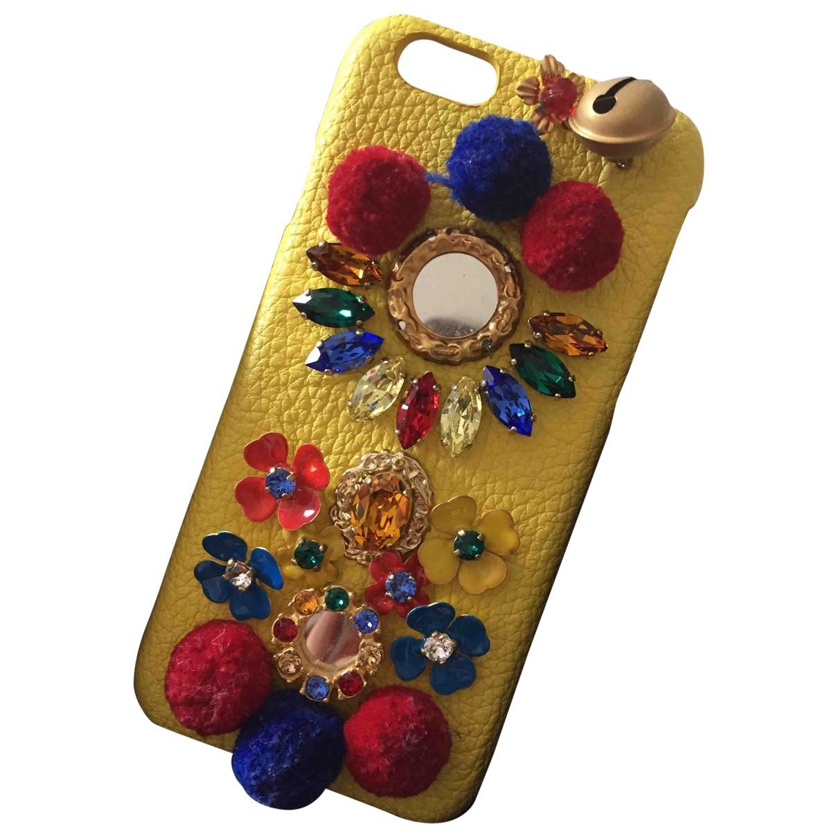 Dolce & Gabbana \N Accessoires in  Gelb Leder