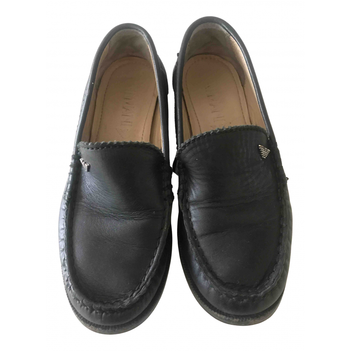 Armani Baby N Blue Leather Flats for Kids 31 FR