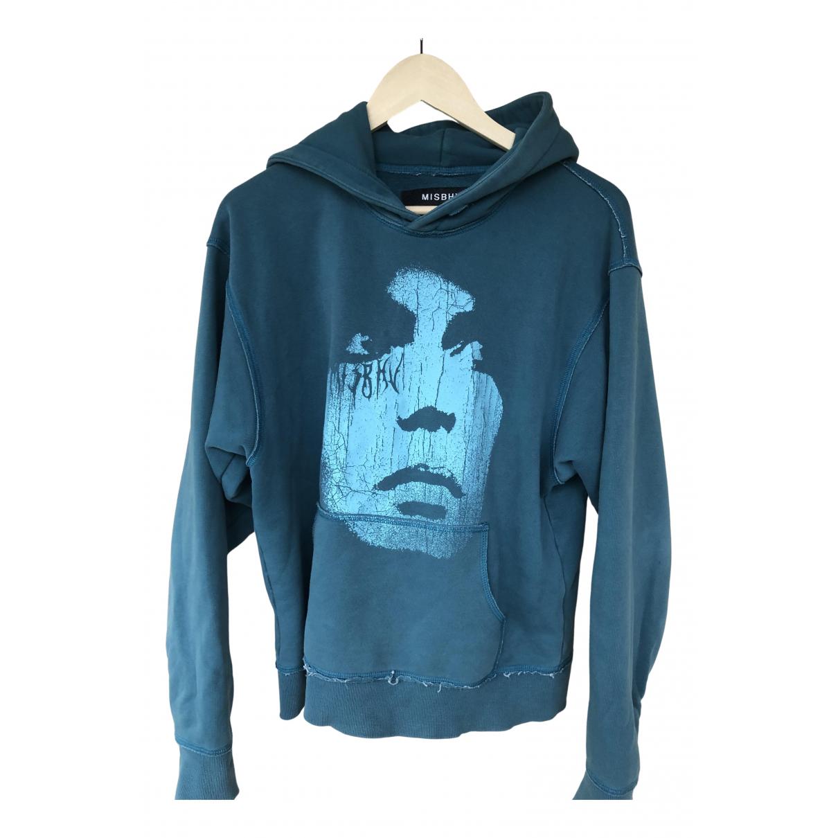 Misbhv \N Pullover.Westen.Sweatshirts  in  Blau Baumwolle