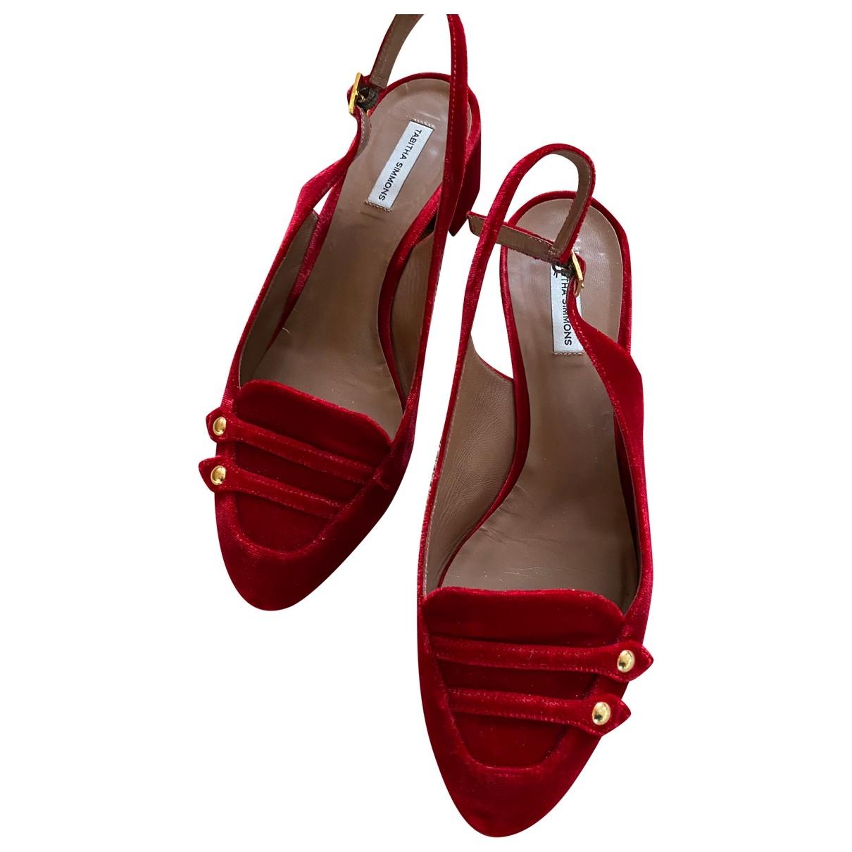 Sandalias de Terciopelo Tabitha Simmons