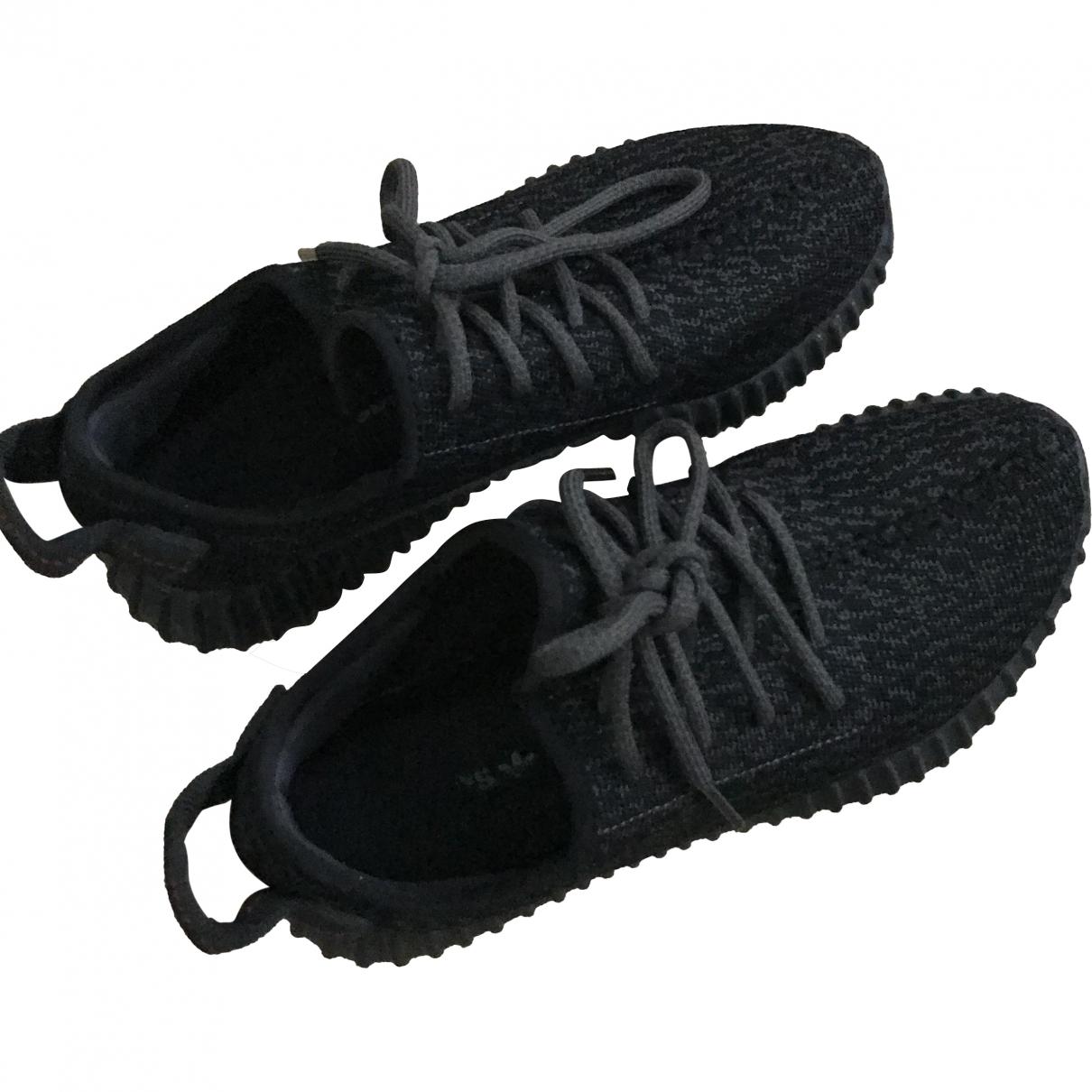 Yeezy X Adidas - Baskets   pour femme en toile - noir