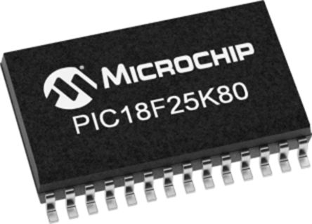 Microchip PIC18F25K80T-I/MM, 8bit PIC Microcontroller, PIC18F, 64MHz, 32 kB Flash, 28-Pin QFN (1600)