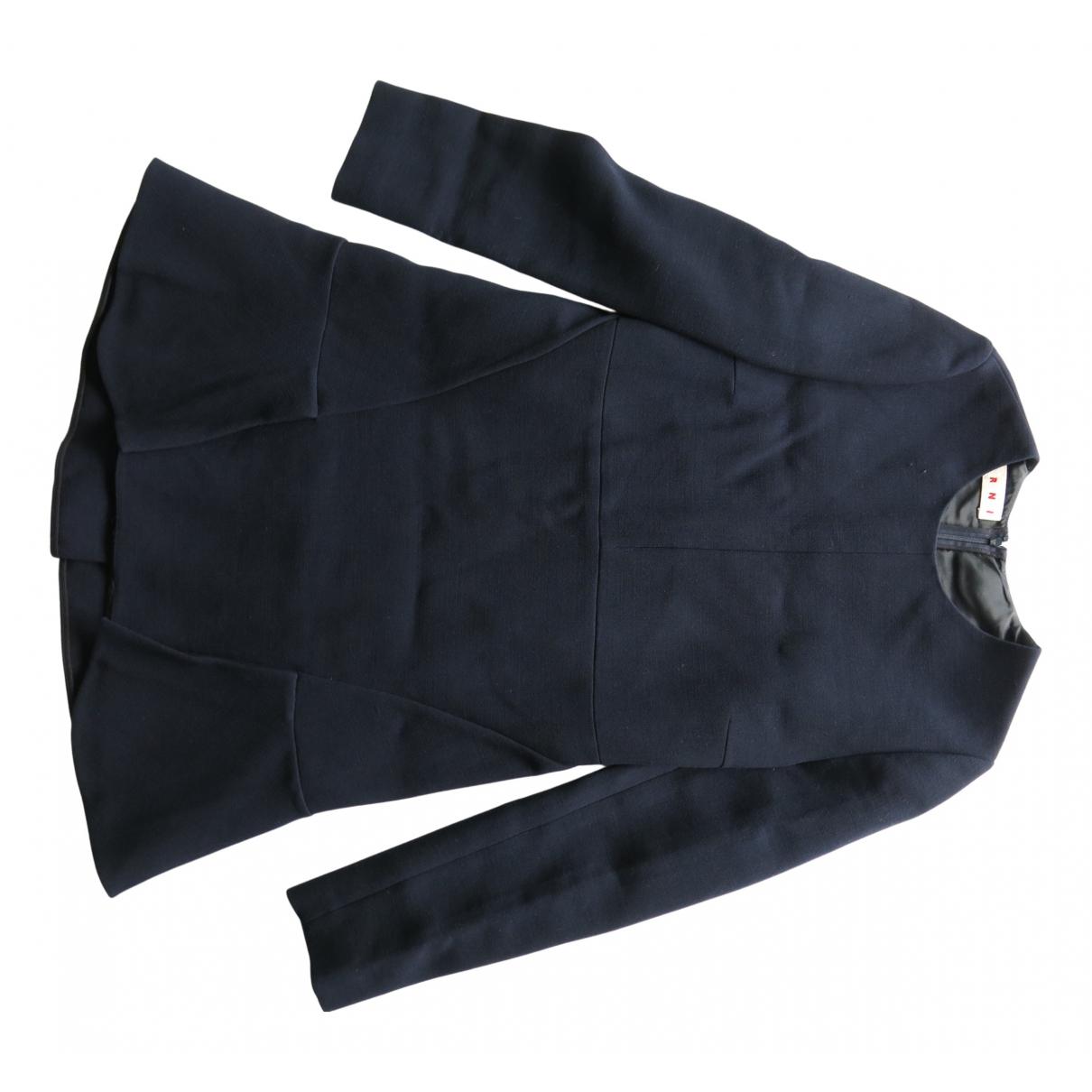 Marni - Robe   pour femme en laine - marine
