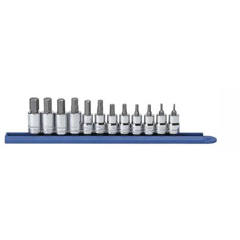 GearWrench Hex Bit Socket Set, 12 Pc. 3/8 In. Dr. Metric