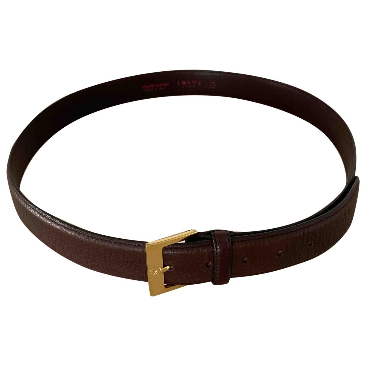 Loewe \N Brown Leather belt for Men 100 cm