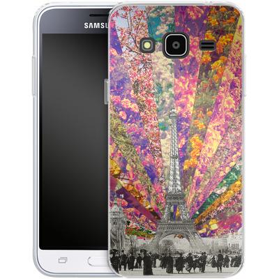 Samsung Galaxy J3 (2016) Silikon Handyhuelle - Vintage Paris von Bianca Green
