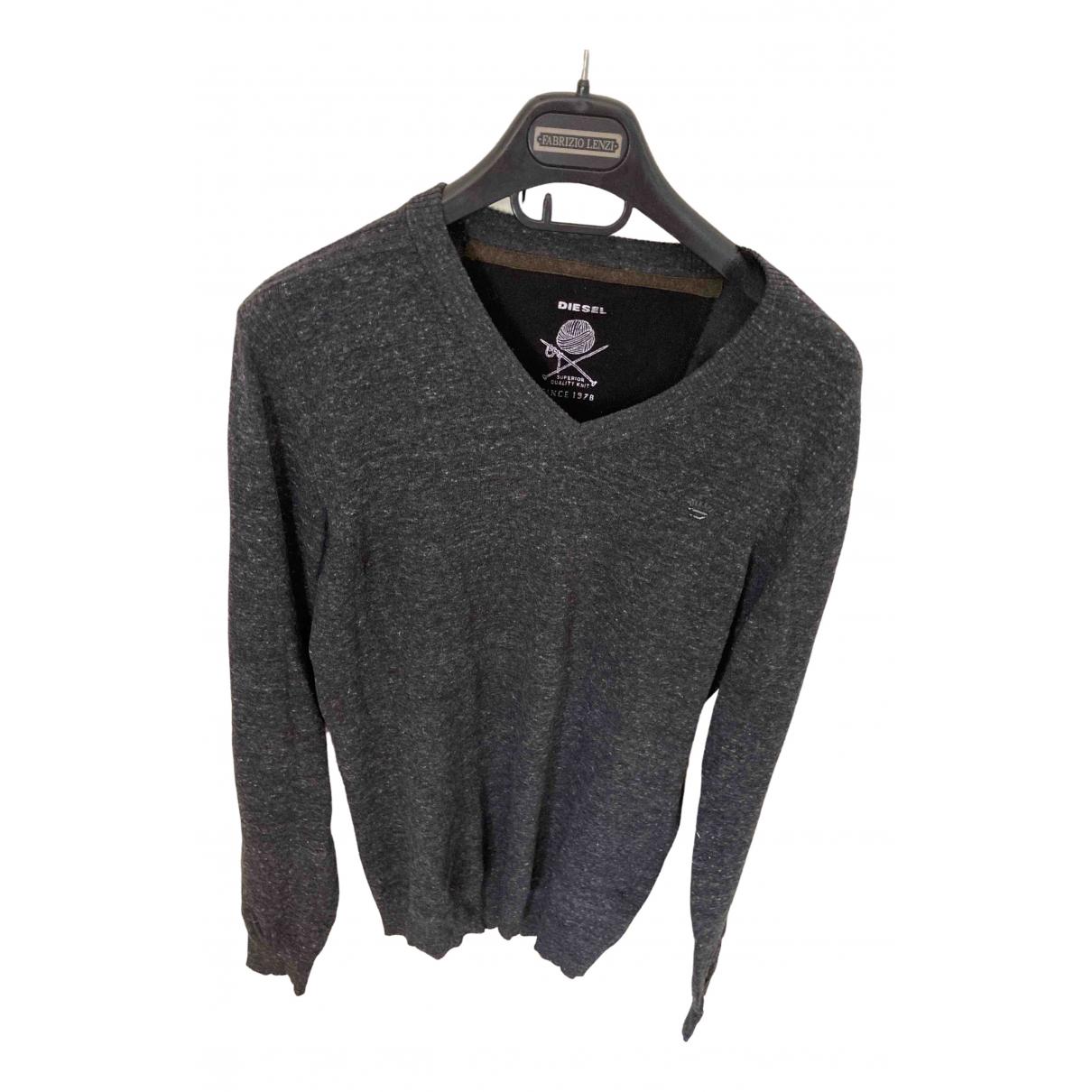 Diesel \N Pullover.Westen.Sweatshirts  in  Anthrazit Baumwolle