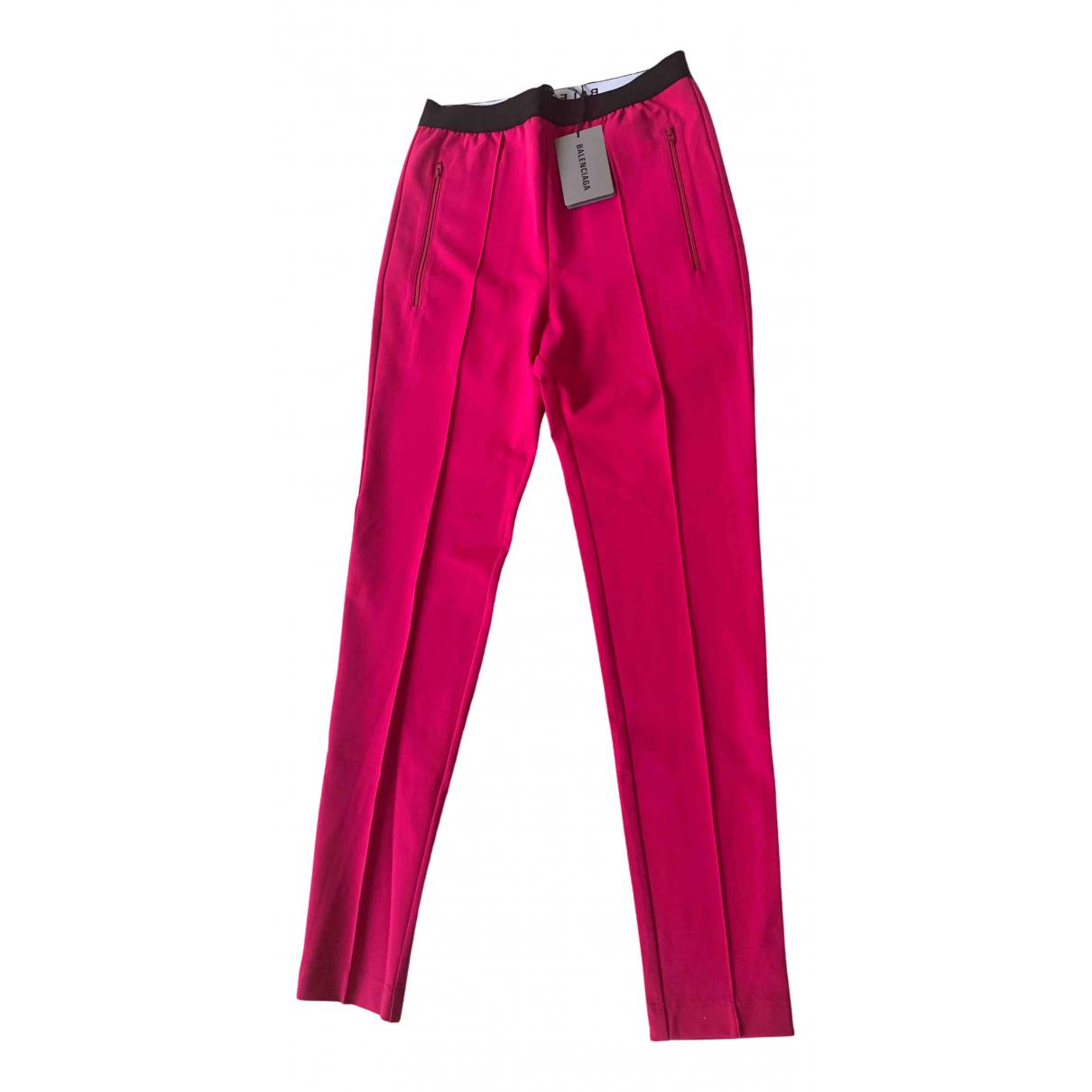 Balenciaga N Pink Trousers for Women 40 FR