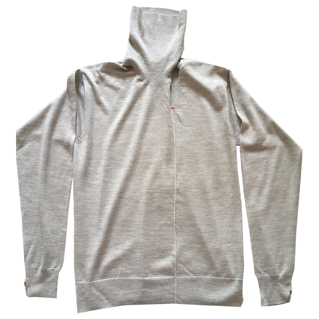 Celine \N Pullover in  Grau Wolle