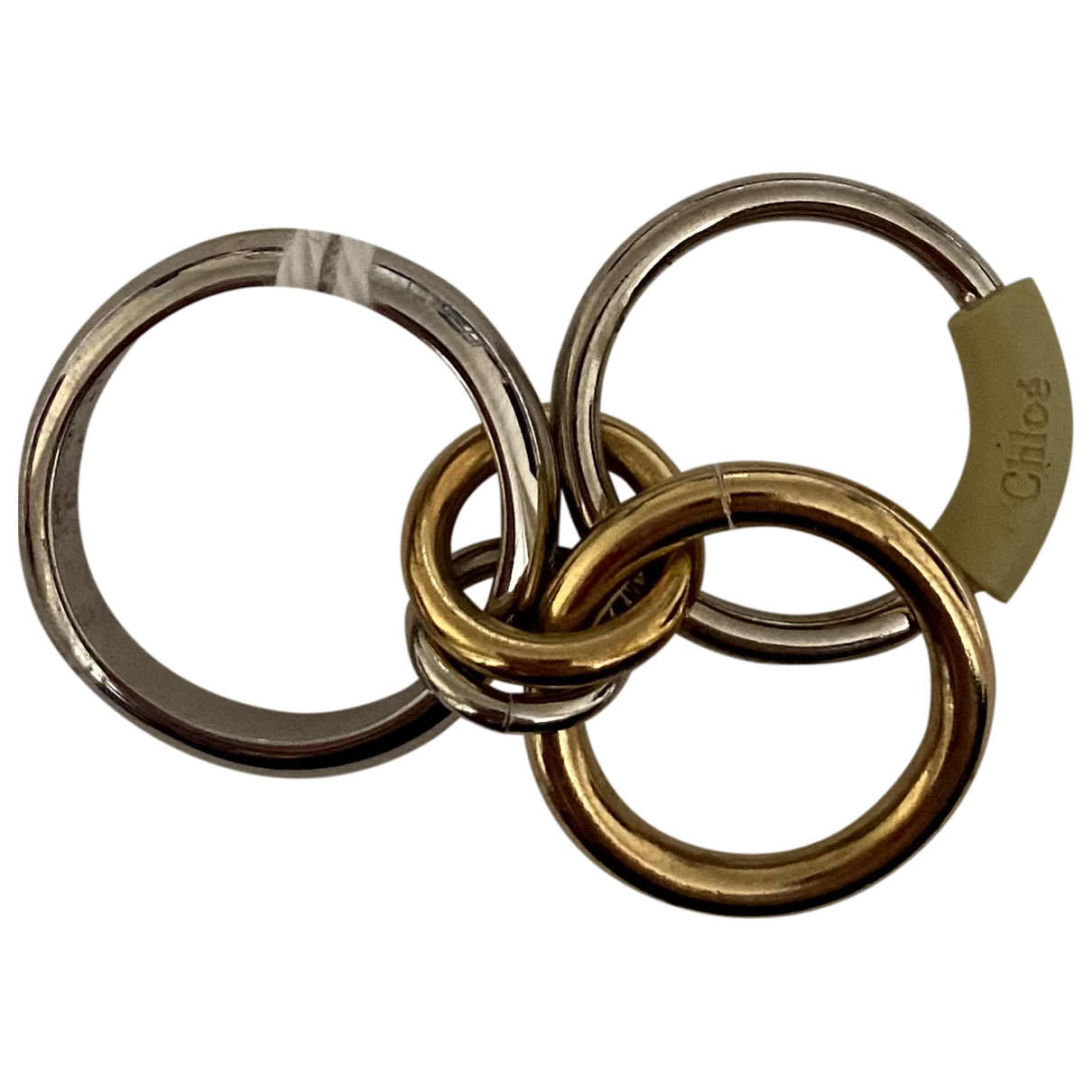 Chloé N Metallic Metal ring for Women 7 ½ US