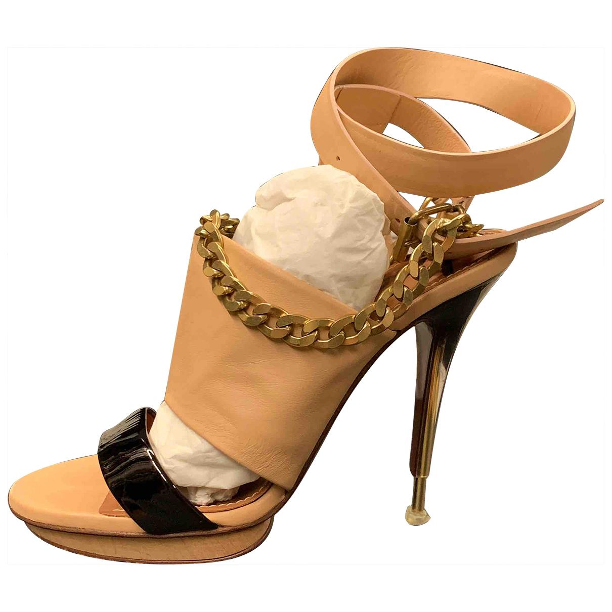 Lanvin \N Beige Leather Sandals for Women 39 EU
