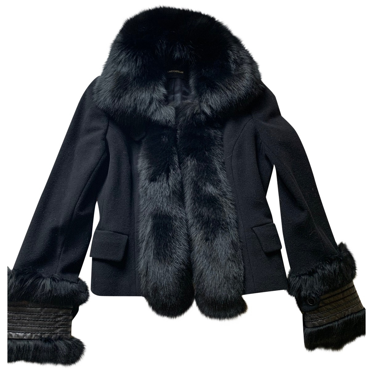 Flavio Castellani - Manteau   pour femme en laine - noir