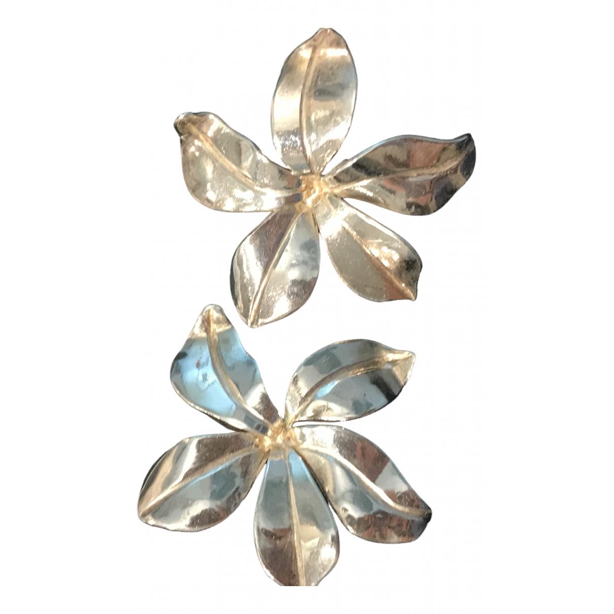 - Boucles doreilles Motifs Floraux pour femme en argent - argente