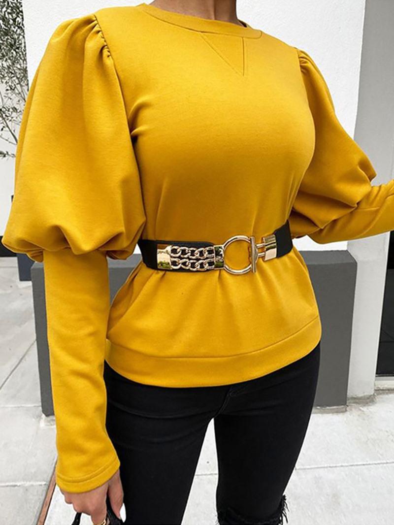 Ericdress Standard Long Sleeve Round Neck Women's Slim Casual T-Shirt
