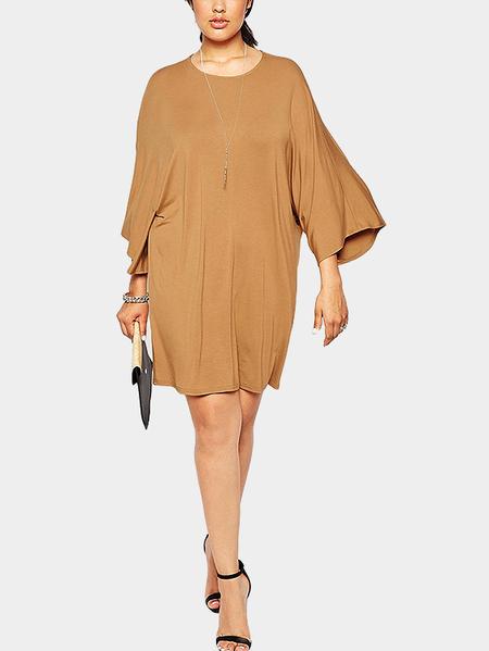 Yoins Plus Size T-shirt Dress with Kimono Sleeves