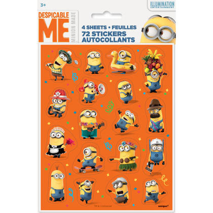 4 Sticker Sheets/Favors Pour la fête d'anniversaire