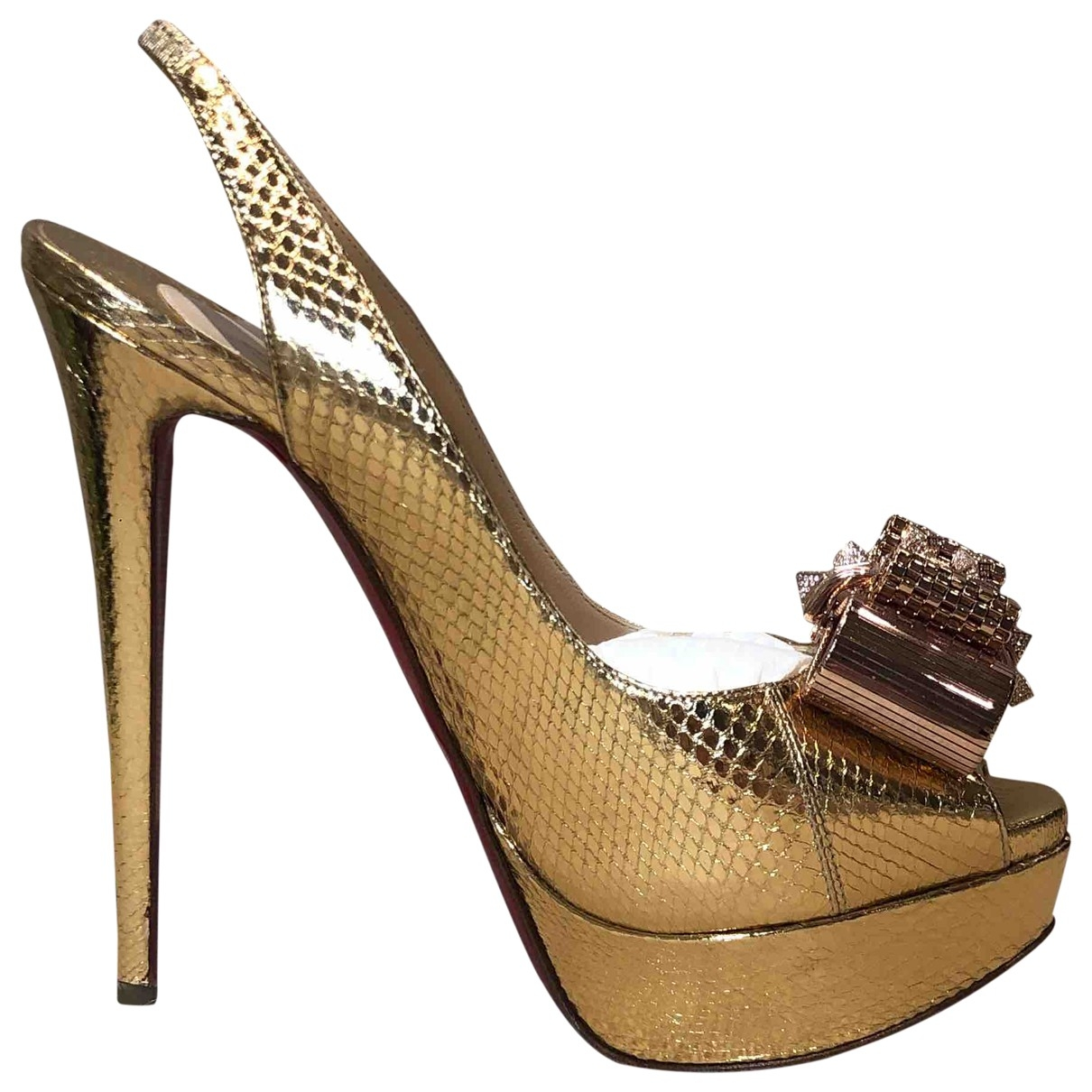 Christian Louboutin Private Number Pumps in  Gold Leder