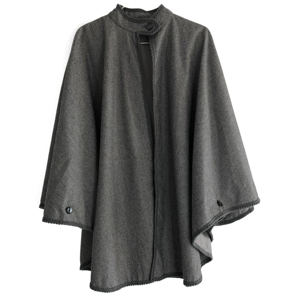 - Veste Oversize pour femme en laine - gris