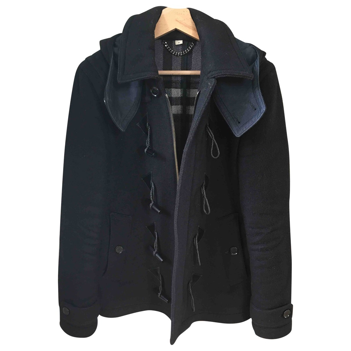 Burberry \N Black Wool coat  for Men 46 FR
