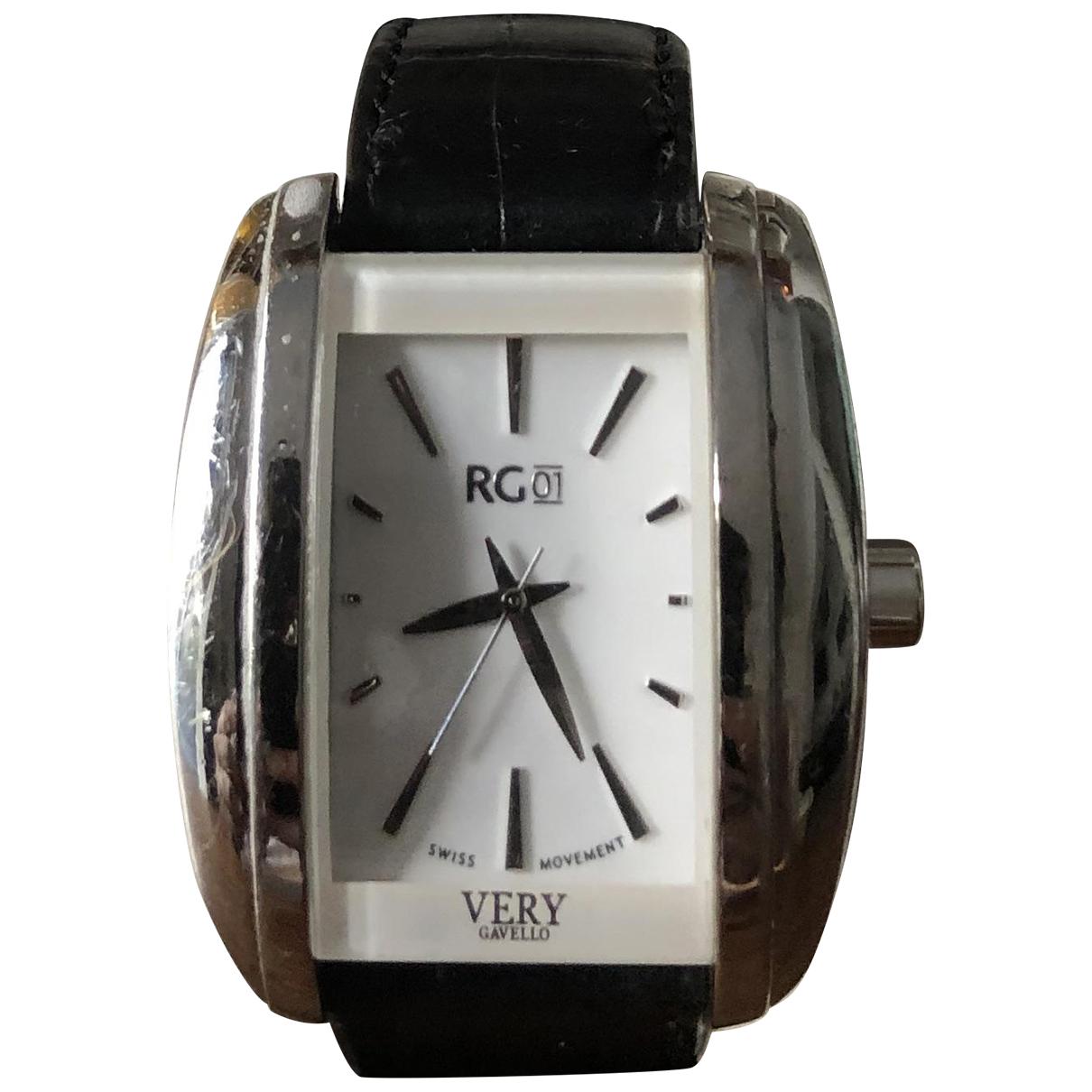 Gavello \N Uhr in  Schwarz Stahl