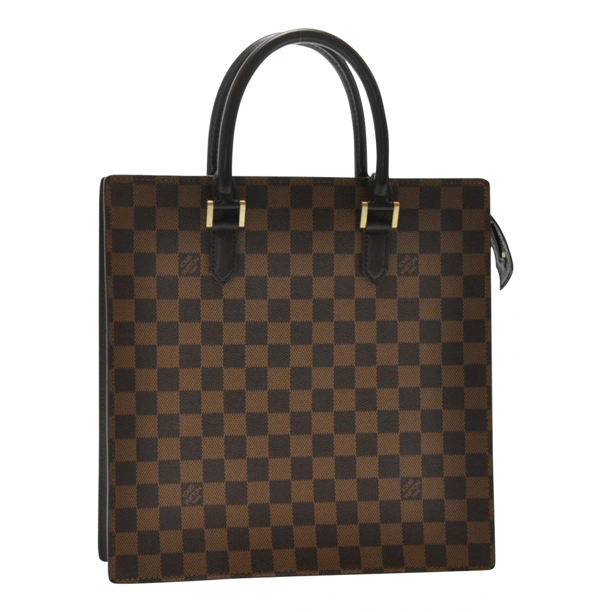 Louis Vuitton - Sac a main Plat pour femme en toile - marron