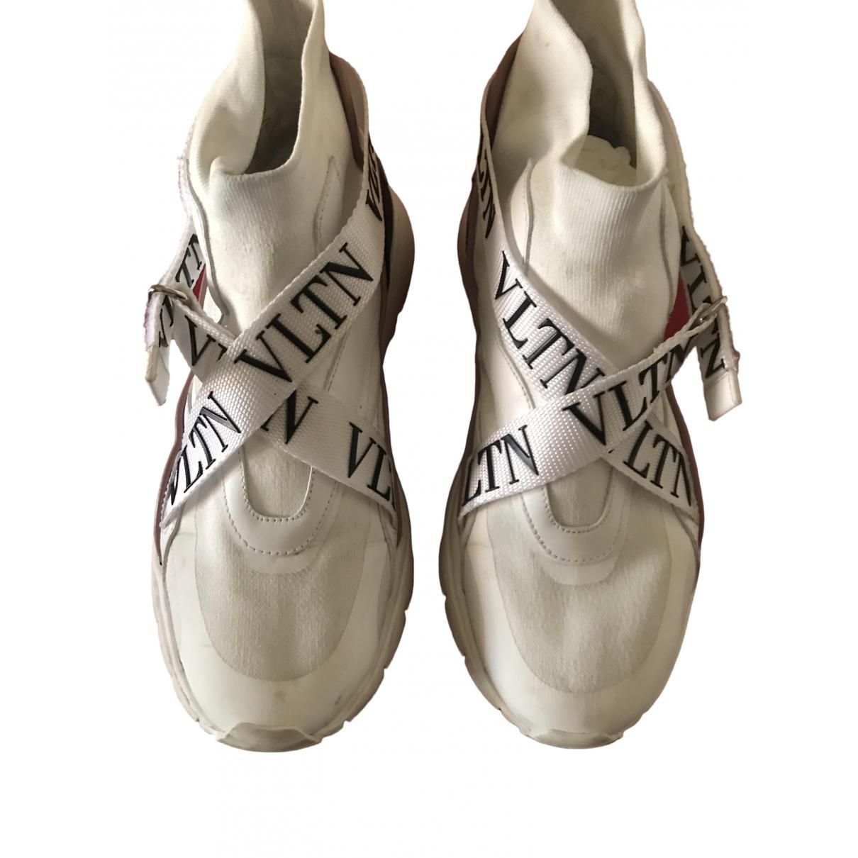 Valentino Garavani - Baskets   pour femme en toile - blanc