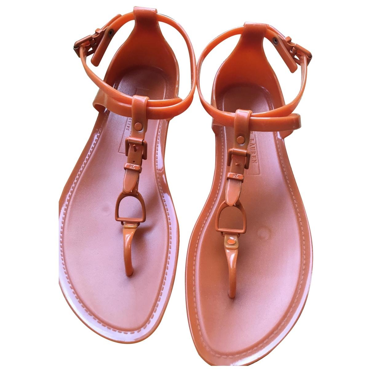 Ralph Lauren \N Orange Sandals for Women 7 US