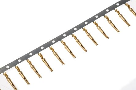 TE Connectivity AMPLIMITE HDP-20 Series size 20 Female Crimp D-sub Connector Contact, Gold over Nickel Plated Signal, (25)