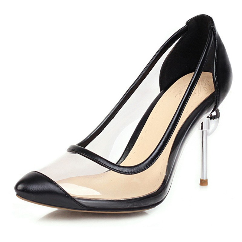 Ericdress See-Through Slip-On Pointed Toe Sexy Pumps