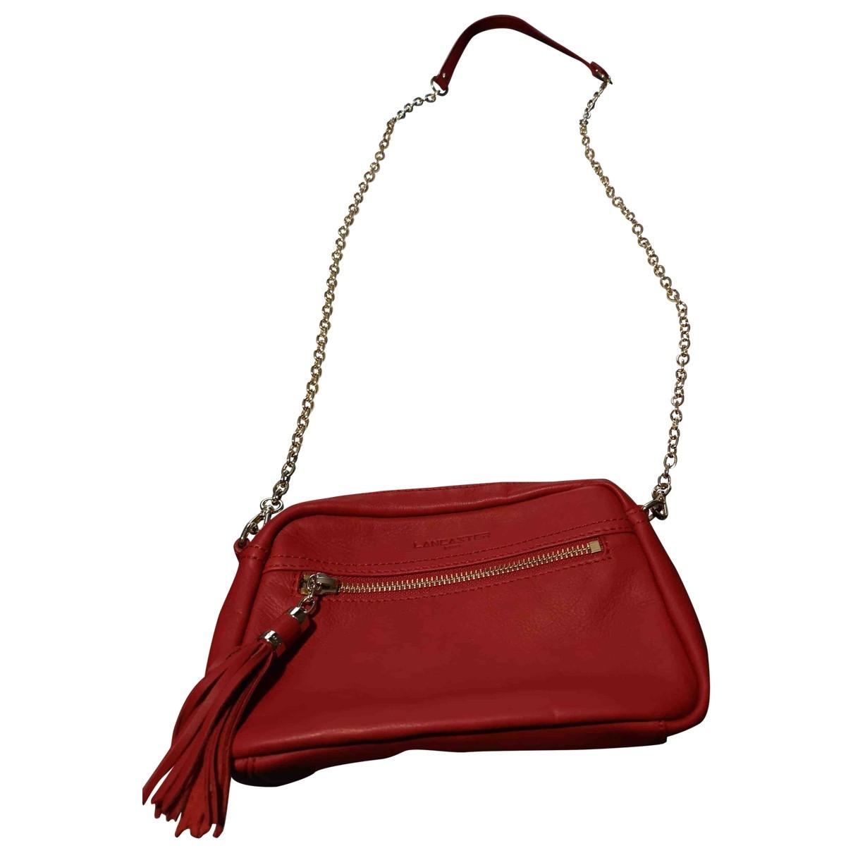 Lancaster \N Red Leather handbag for Women \N