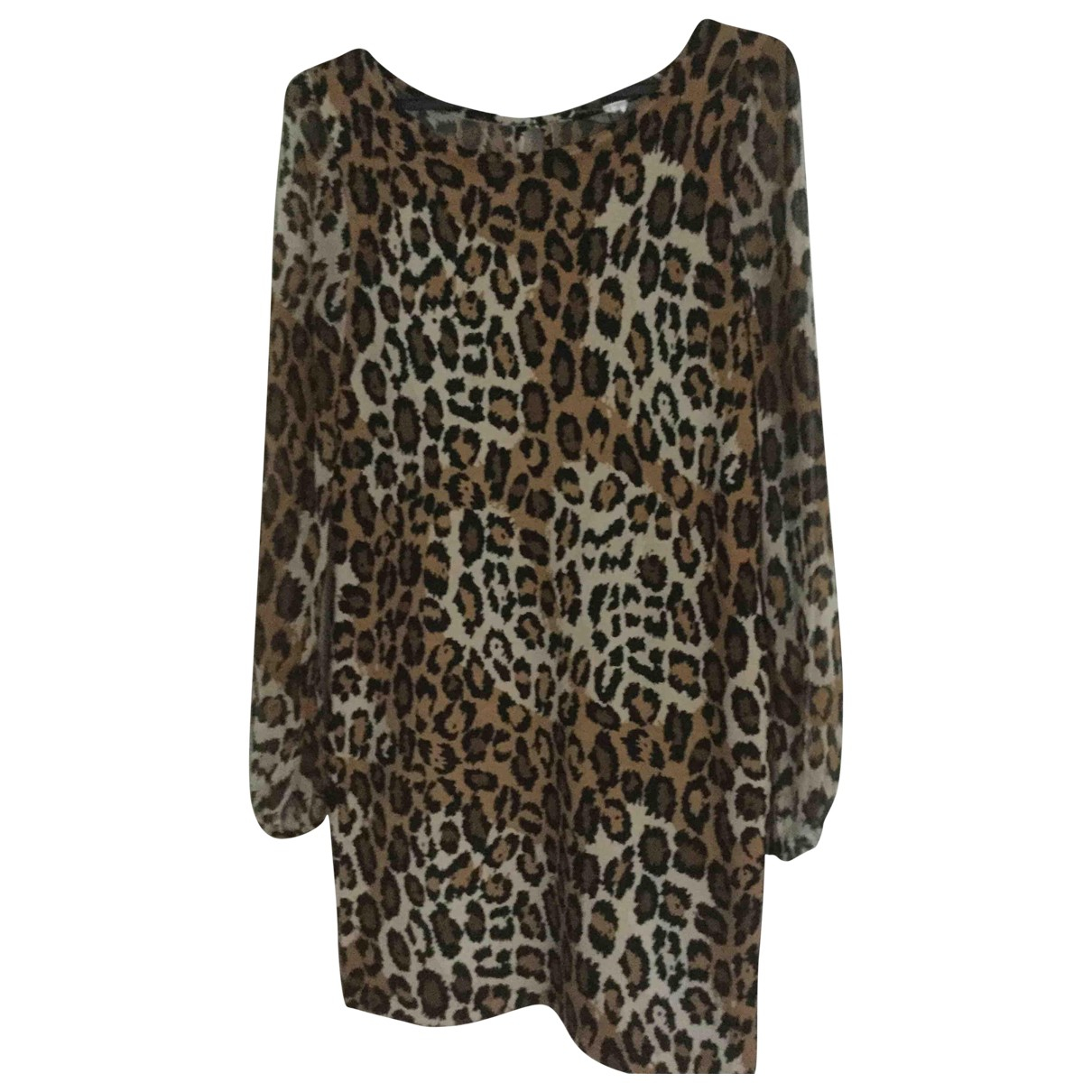 Diane Von Furstenberg \N Brown Wool dress for Women 40 FR