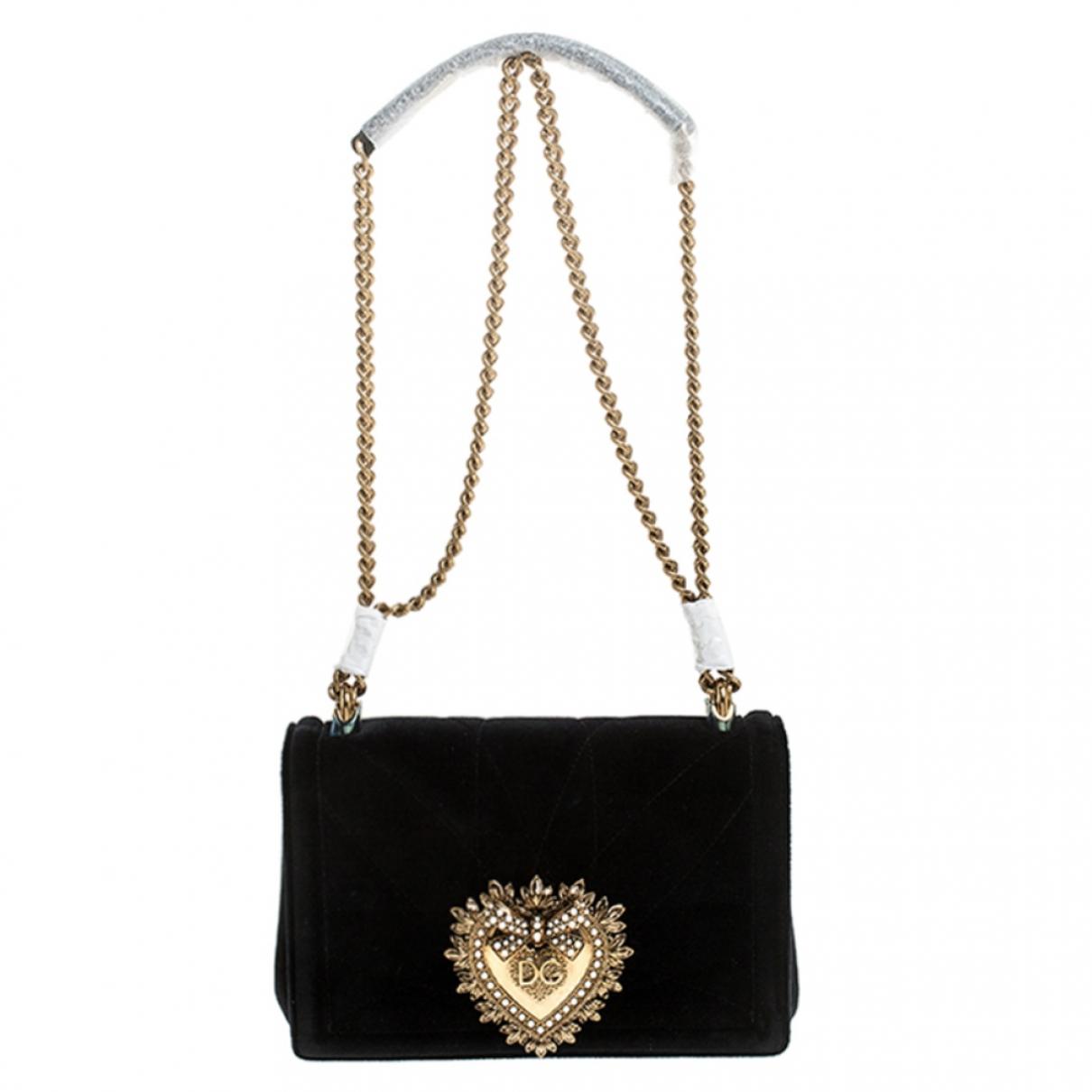 Dolce & Gabbana - Sac a main Devotion pour femme en cuir - noir