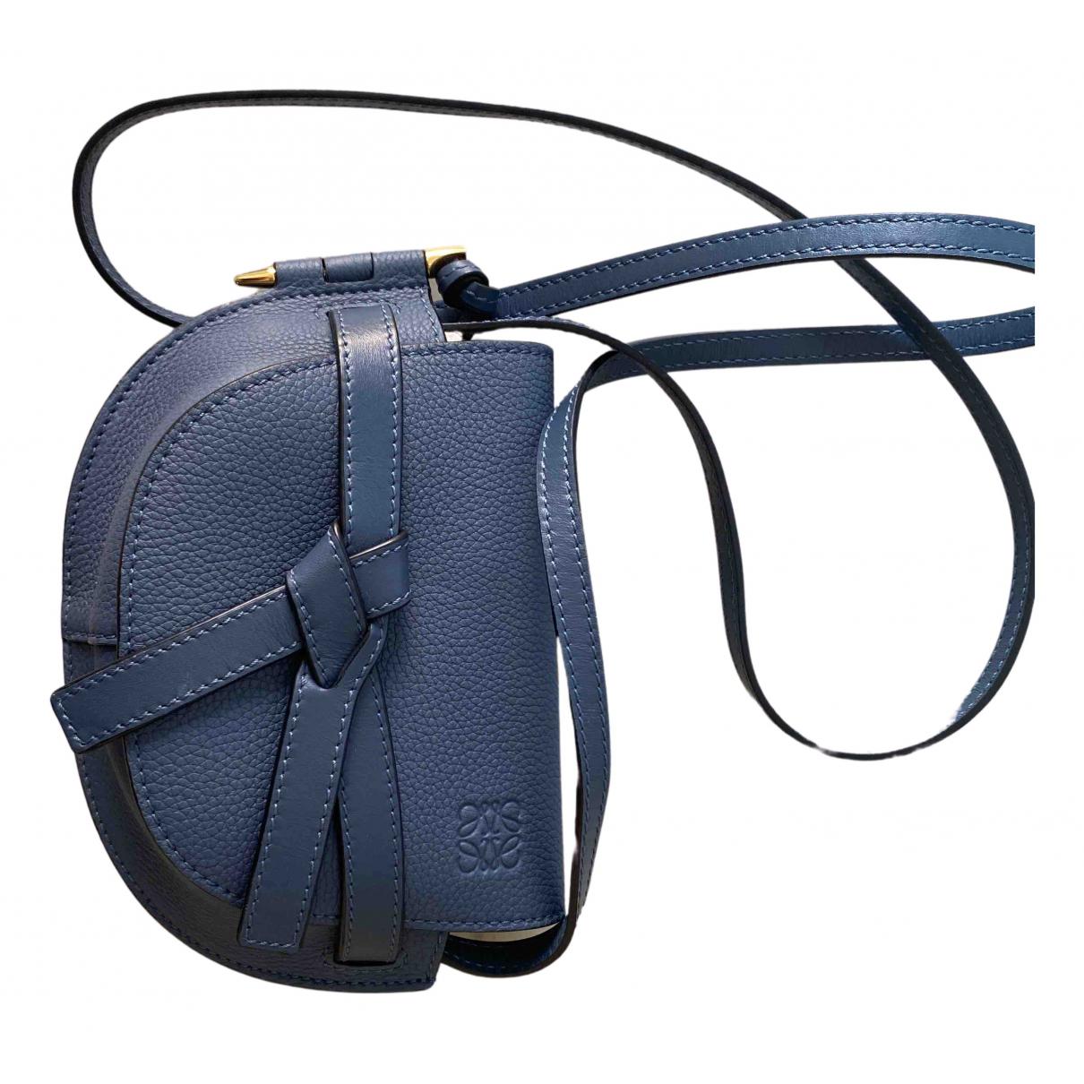 Loewe - Sac a main Gate pour femme en cuir - bleu