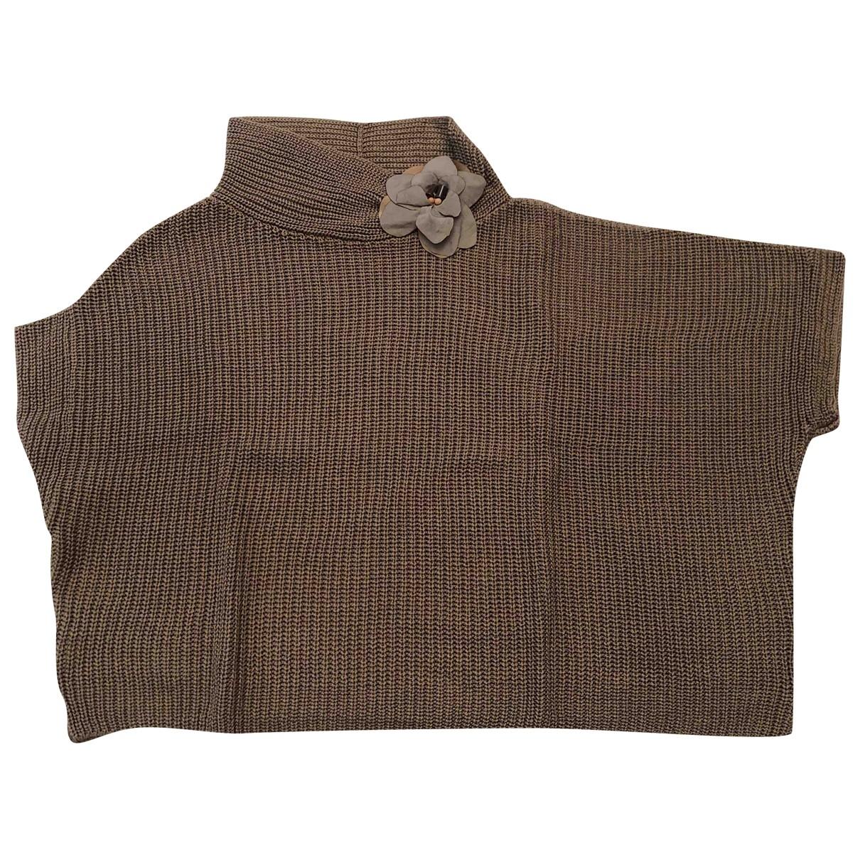 Brunello Cucinelli - Pull   pour femme en coton - marron