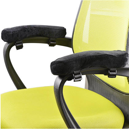 Ergonomic Office Chair Armrest Pads, Comfy Elbow Cushion with Straps, 2 Units/Pack