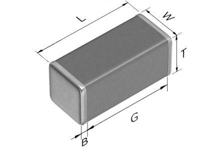 TDK 1808 (4520M) 68pF Multilayer Ceramic Capacitor MLCC 3kV dc ±10% SMD C4520C0G3F680K200KA (1000)