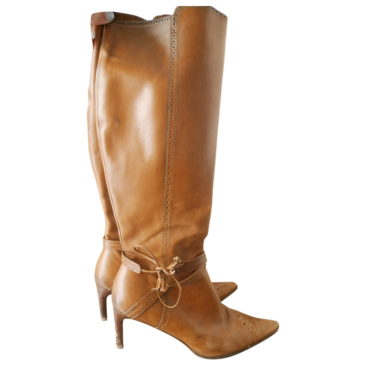 Ralph Lauren \N Camel Leather Boots for Women 40 EU