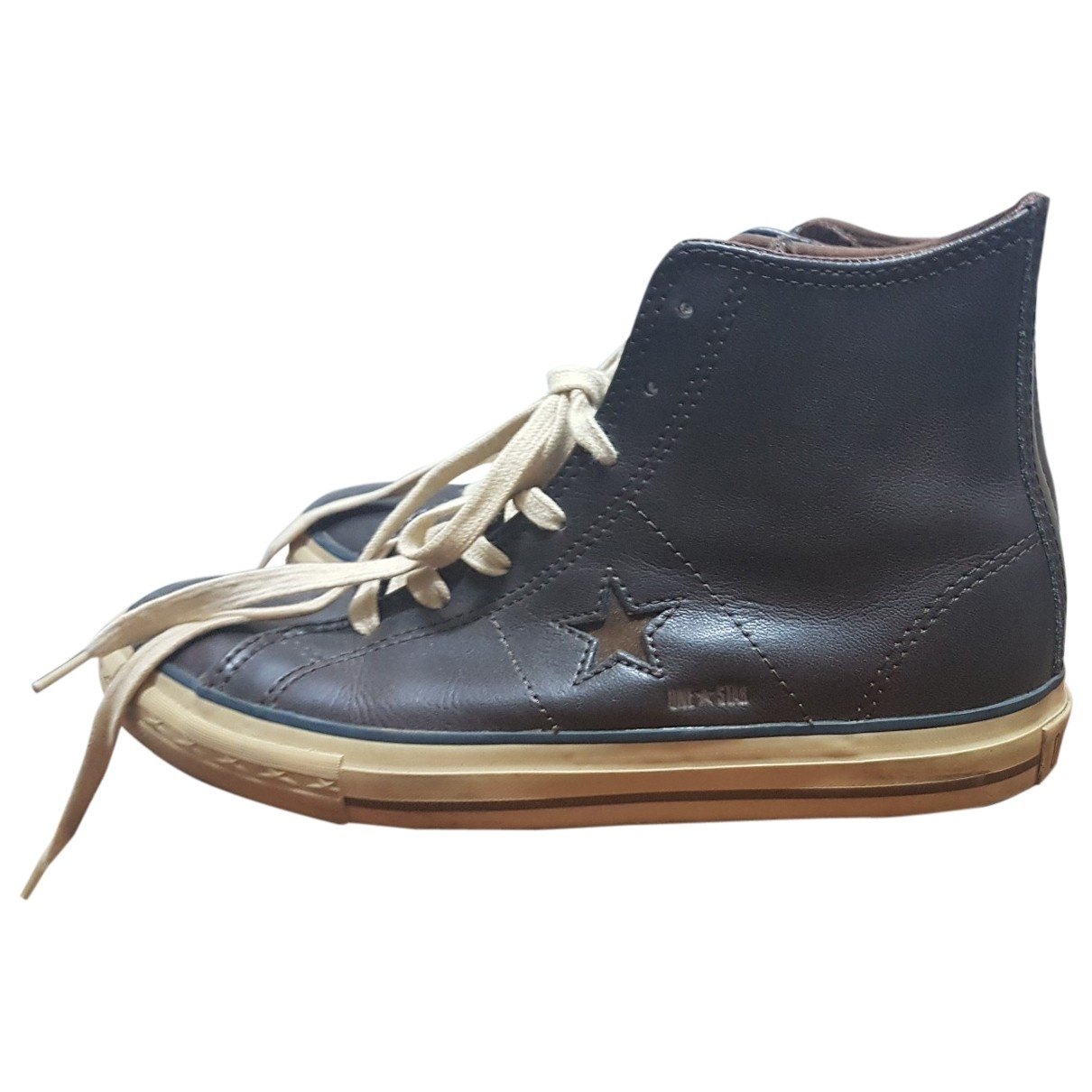 Converse \N Brown Leather Trainers for Men 40 EU