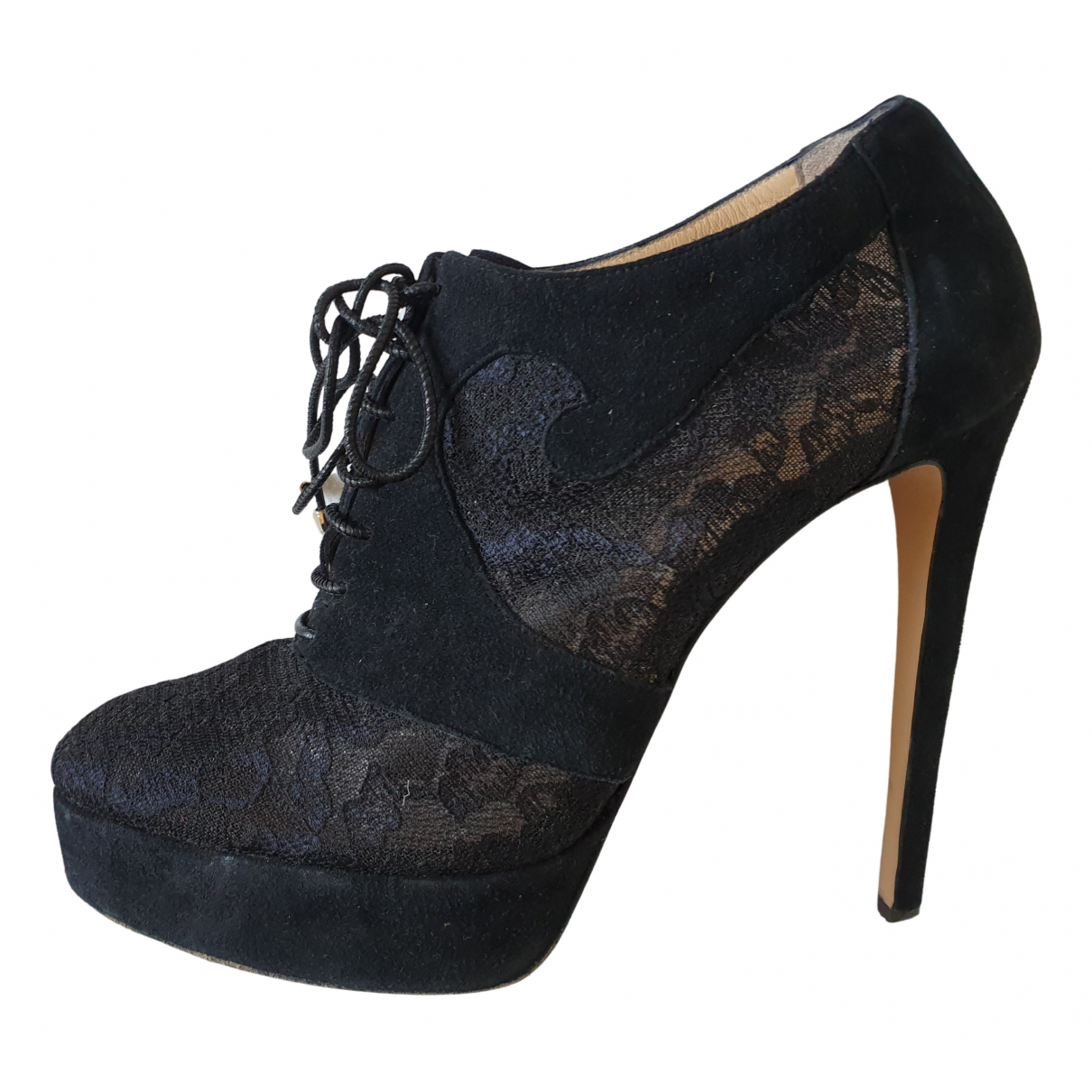 Bionda Castana N Black Suede Ankle boots for Women 39 EU