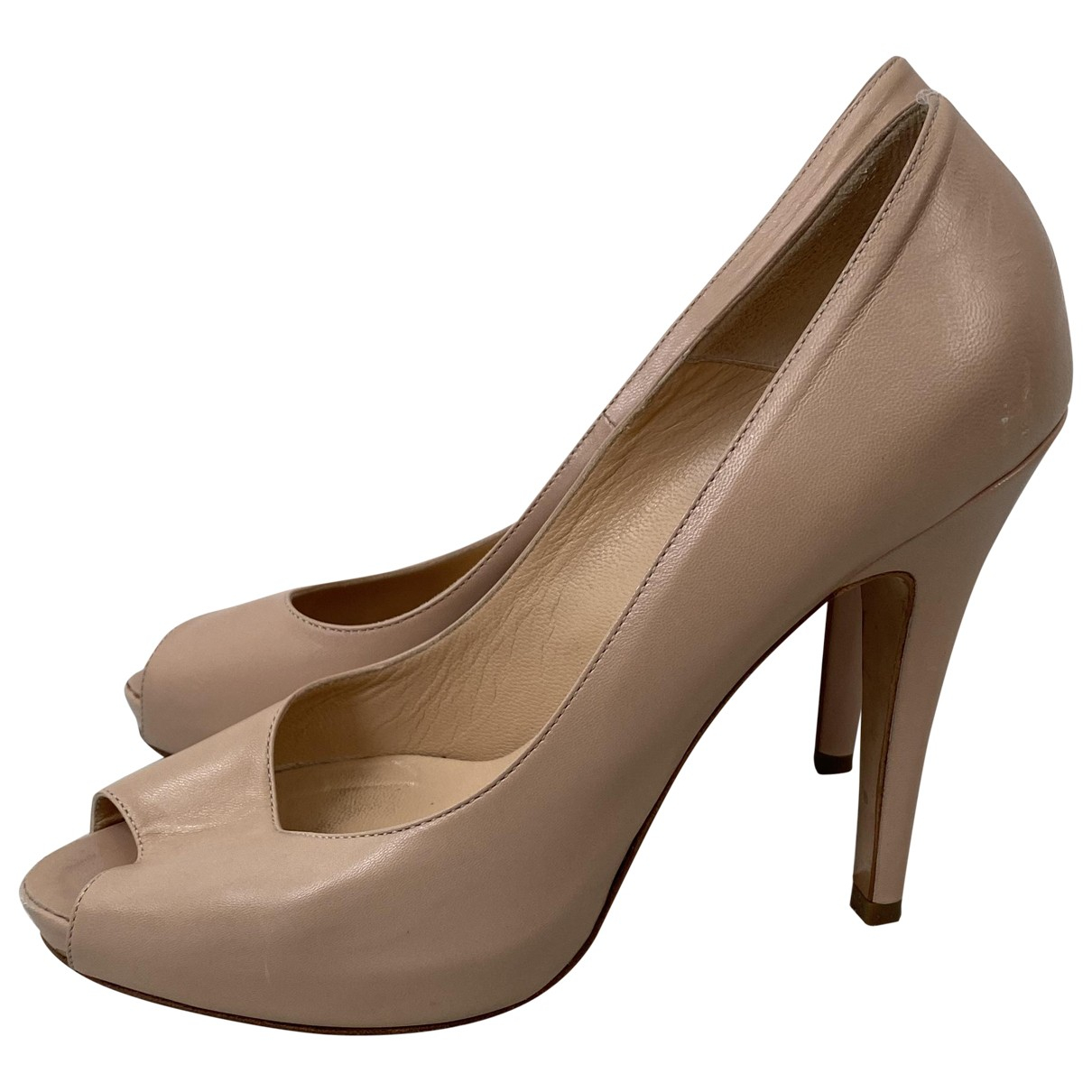 Colisée De Sacha \N Pink Leather Heels for Women 37 EU