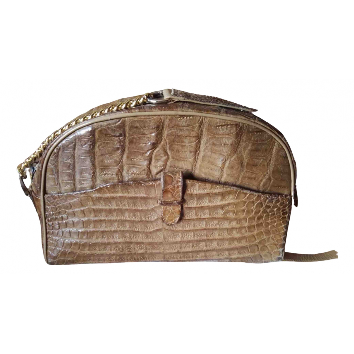 Non Signé / Unsigned \N Beige Crocodile Clutch bag for Women \N