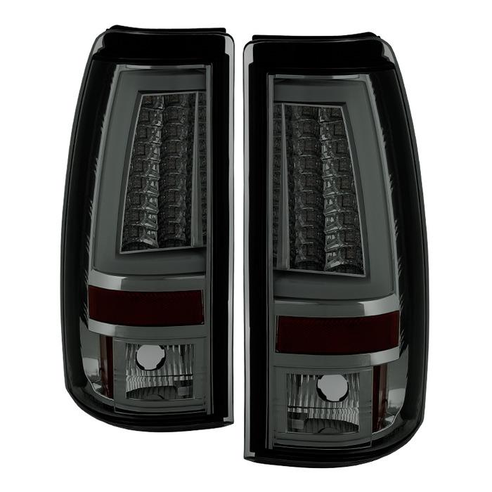 Spyder Auto ALT-YD-CS99V2-LED-SM Smoke LED Version 2 Taillights Chevrolet Silverado 2500 Non-Stepside 99-02
