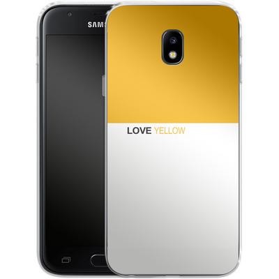 Samsung Galaxy J3 (2017) Silikon Handyhuelle - LoveYellow von caseable Designs