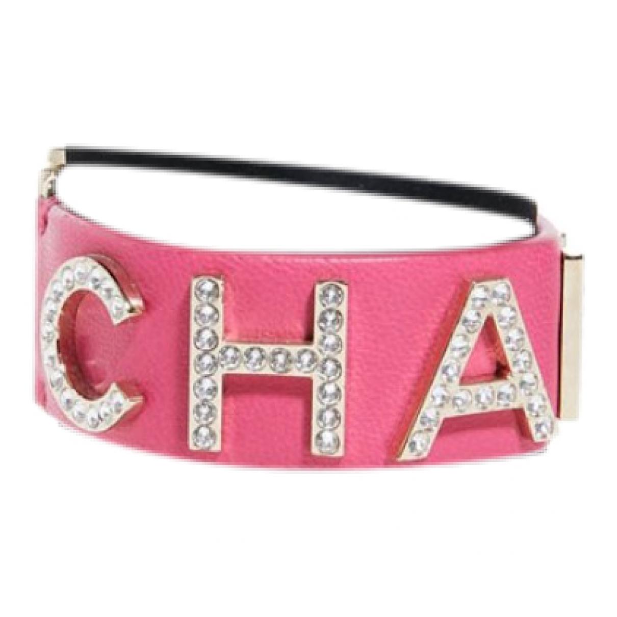 Chanel \N Armband in  Rosa Leder