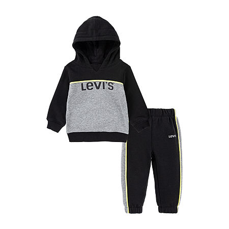 Levi's Toddler Boys 2-pc. Track Suit, 4t , Black